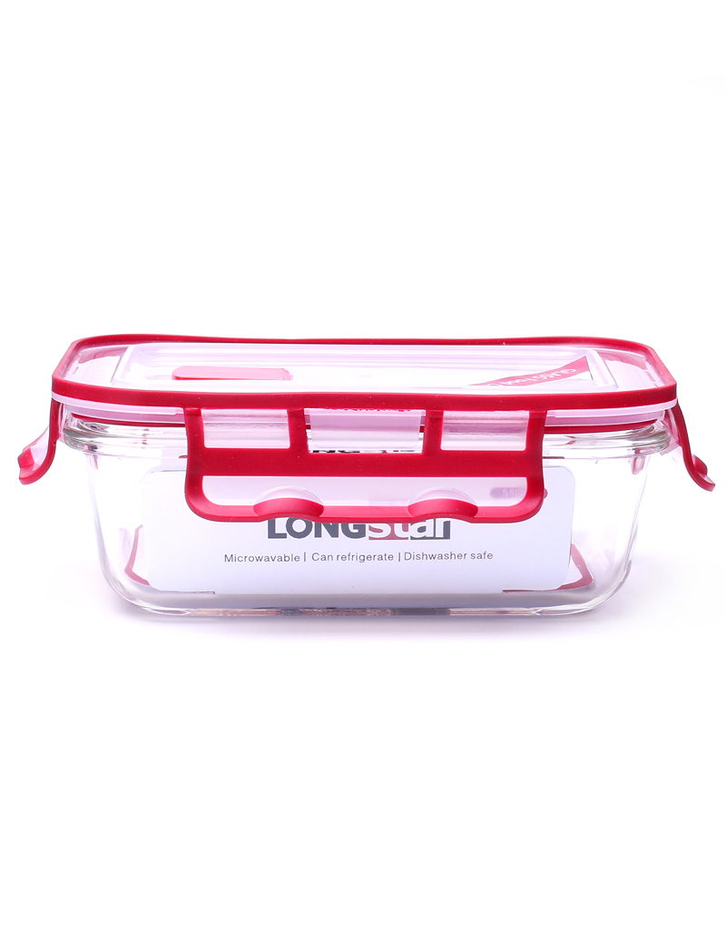 550ml glass rectangle food container