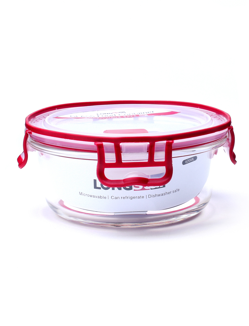 620ml glass round food container